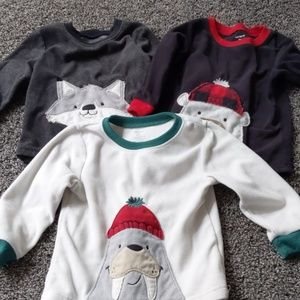 Lot of 3 fleece Carter's sweatshirts